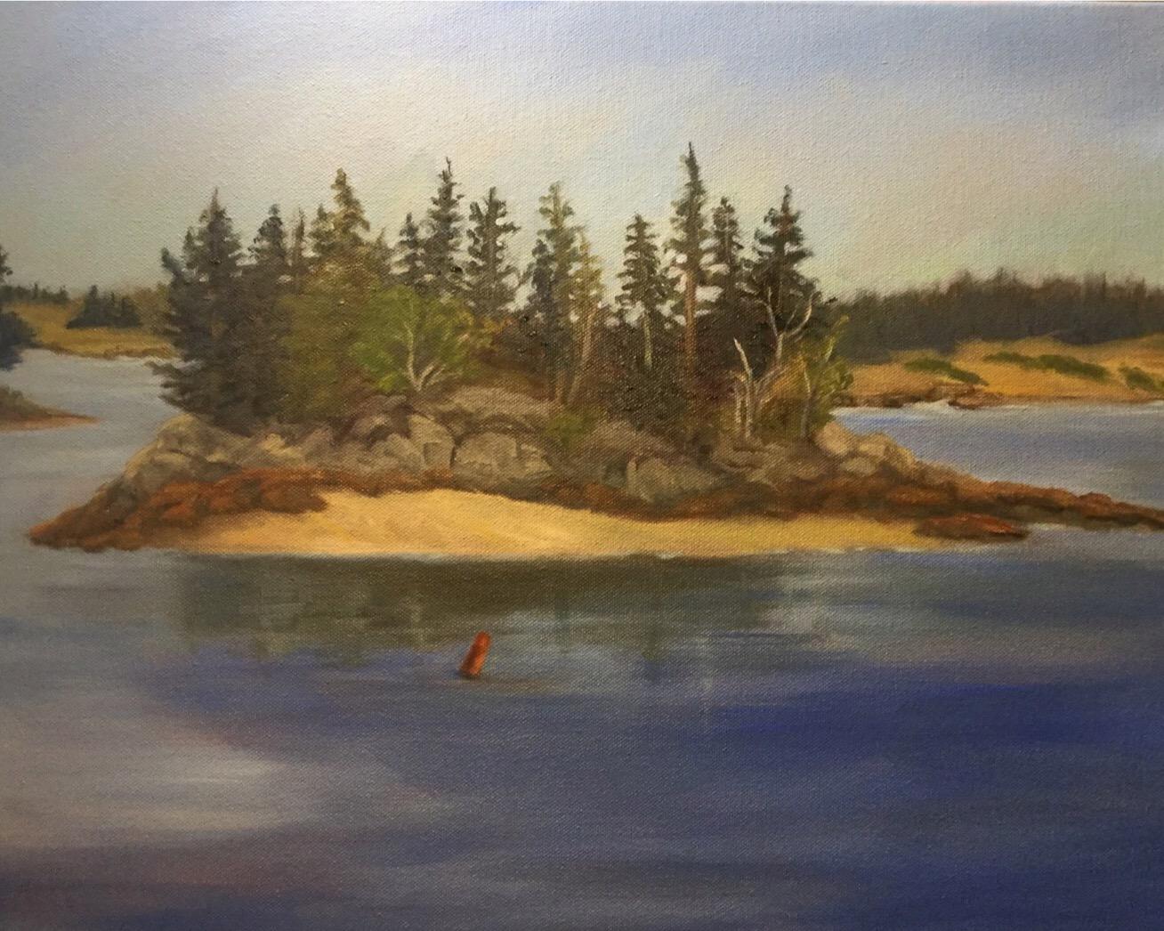 Pope's Island Lubec Maine painting by Sandra Keller
