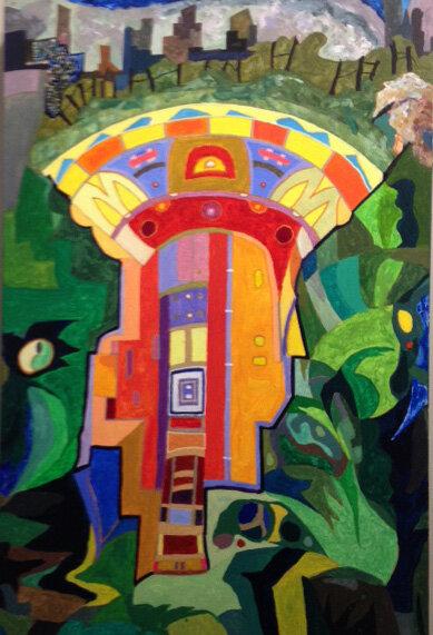Alan Schulman's acrylic painting West-Egg