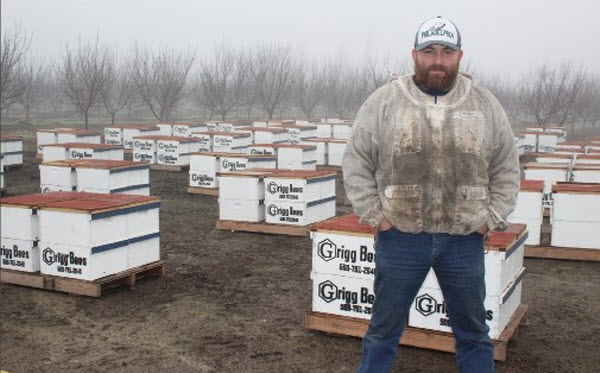 Beekeeper James Barnett brought honeybees from the state of Washington to San Joaquin County for the upcoming almond bloom. He would be among the beekeepers covered by a state beehive-registration program intended to improve honeybee health.  Photo/Christine Souza
