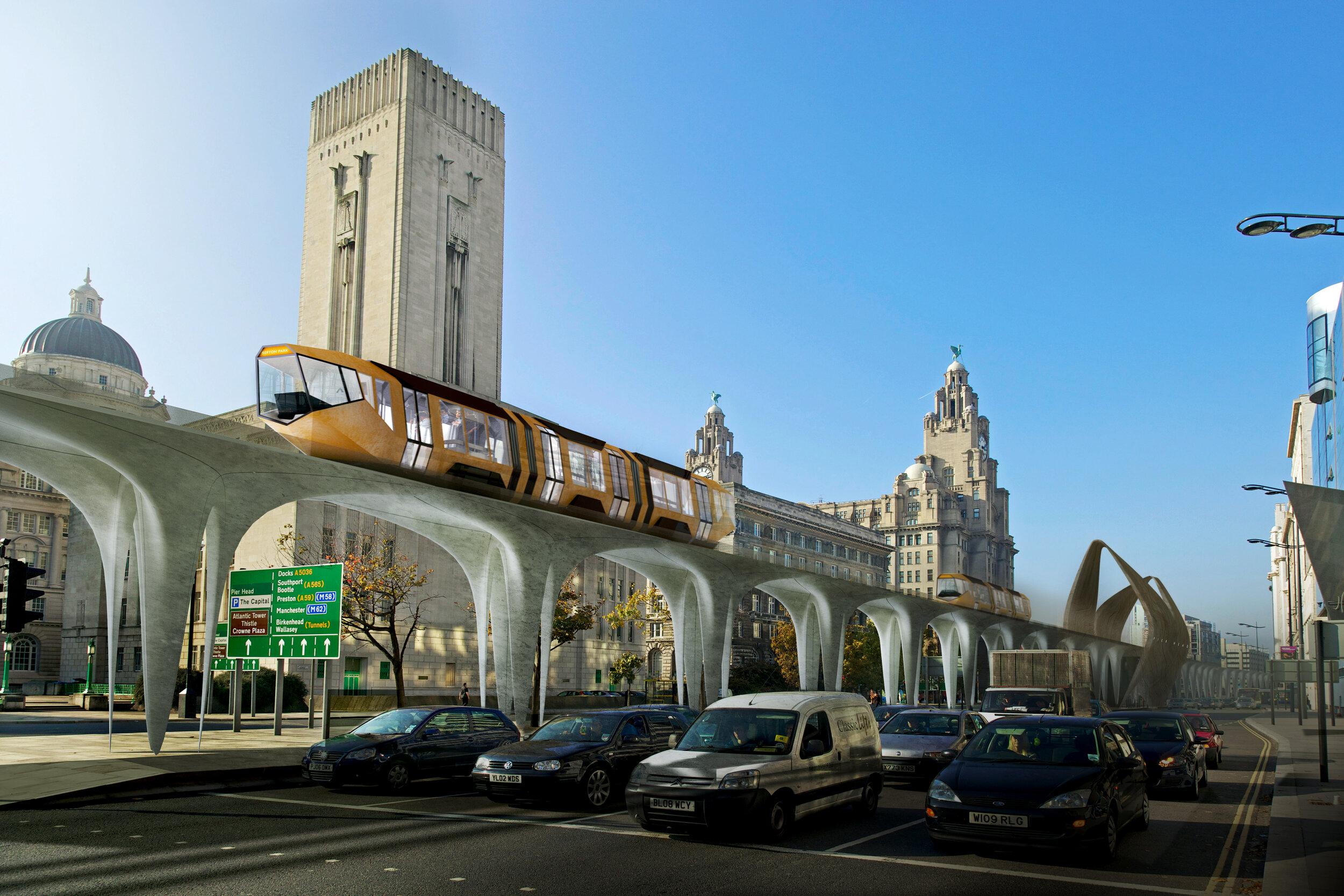 Liverpool Overhead Railway Monorail CGI Fantasist