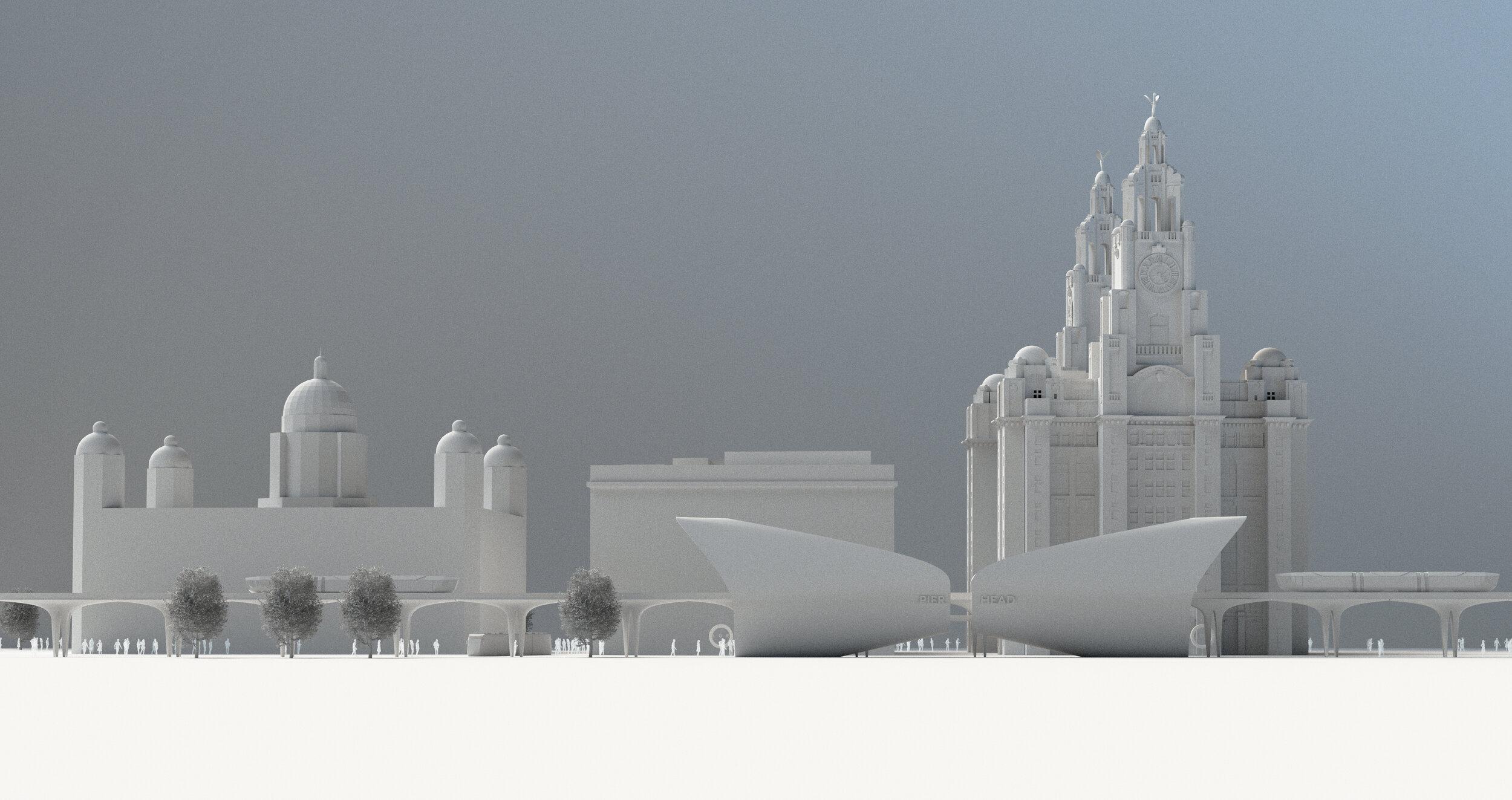 Liverpool Overhead Railway CGI Fantasist Pier Head Station