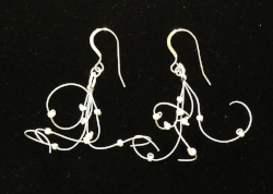 Pearls and Lace Earrings - Soft and Lightweight