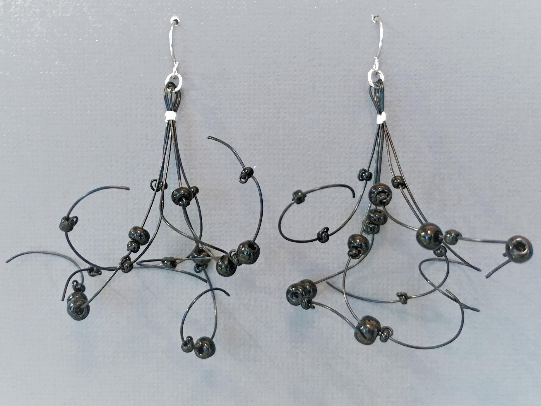 Black Lace Earrings