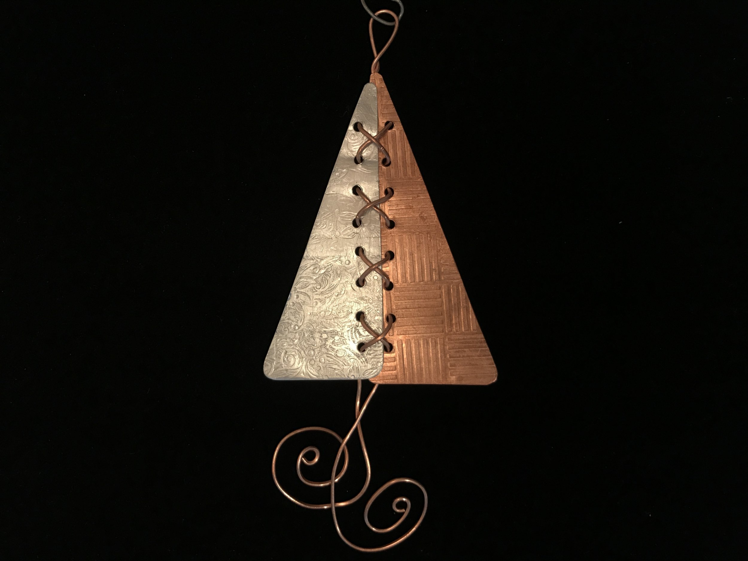 Laced Metal Christmas Tree Ornament