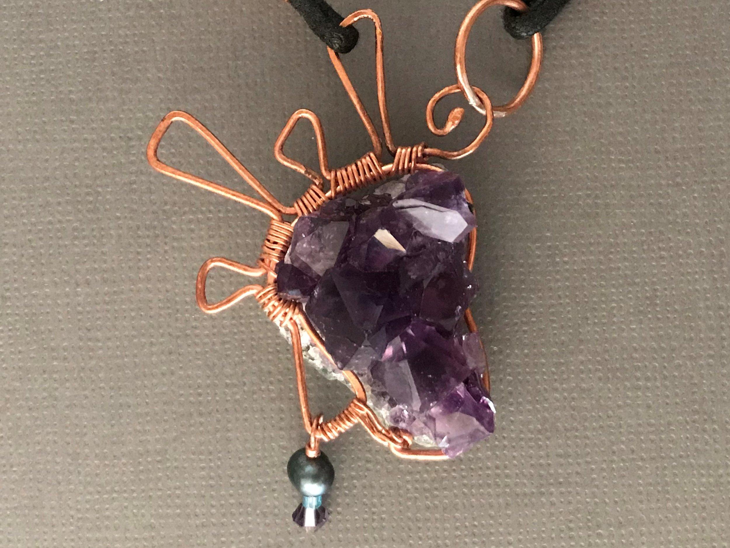 Amethyst Drusy Necklace
