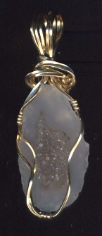 Druzy crystals are often found inside geodes.