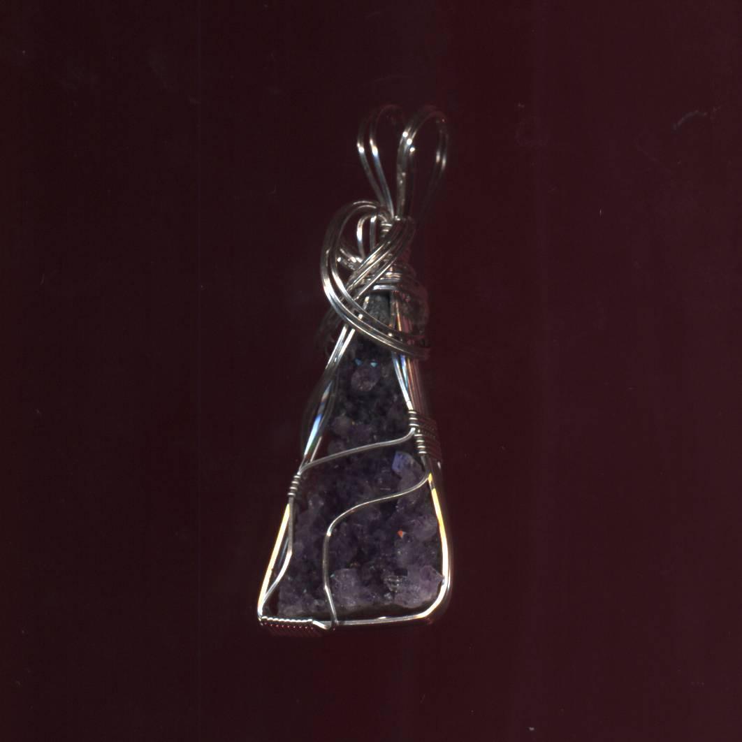 Druse Amethyst Crystal Necklace