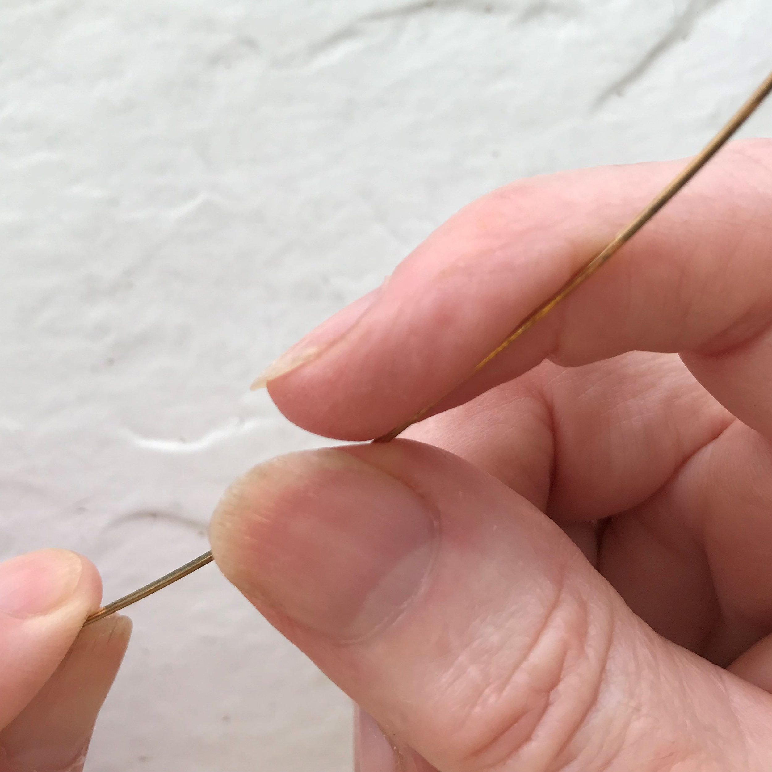 Straighten - Each Square Wire in the bundle must be straight