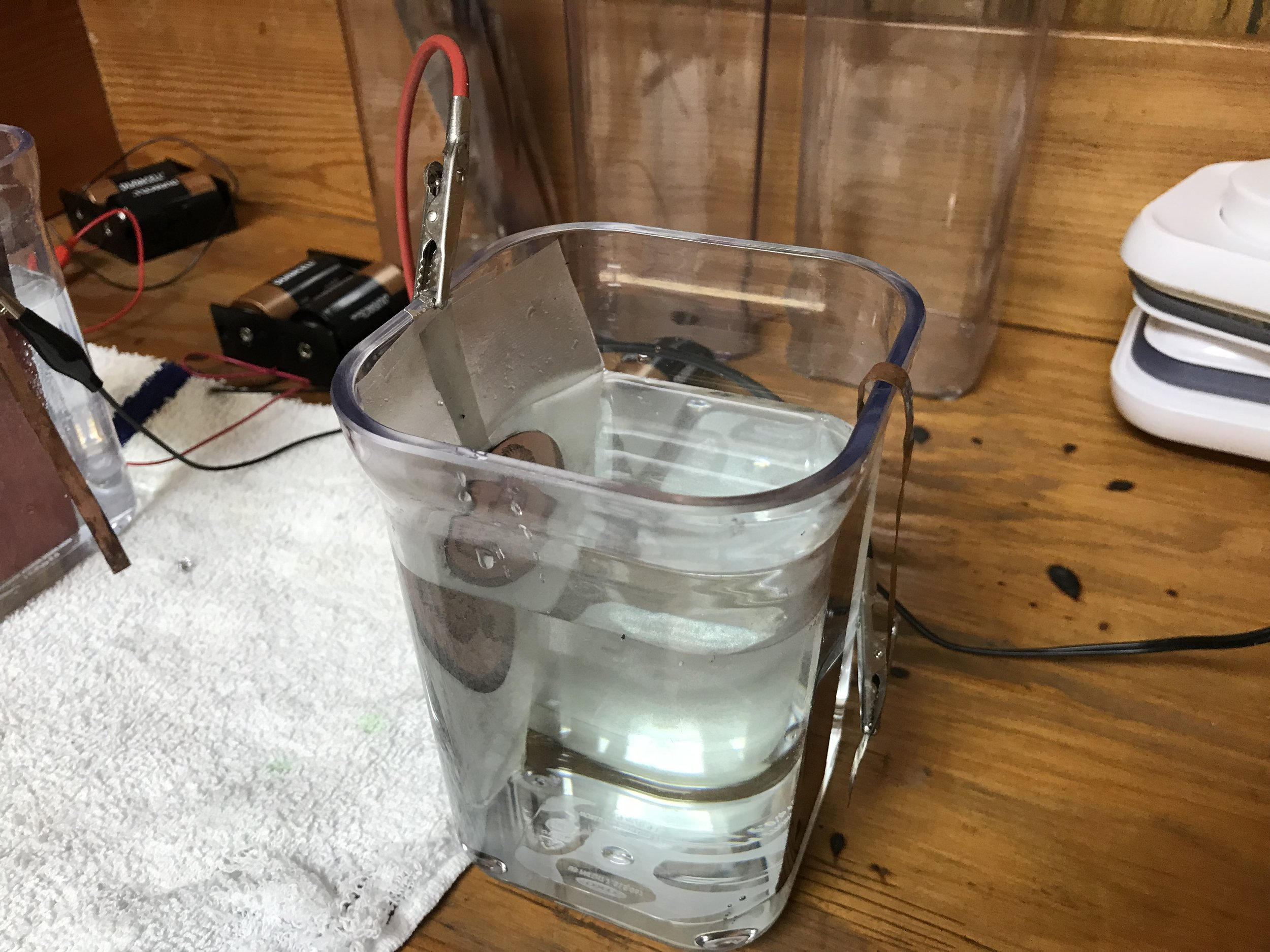 - 1. Mix pickling salt, water and citric acid to make the metal etching solution. (This works with most metals, but for silver we used cupric nitrate).2. Place in a container large enough to hold the metal.