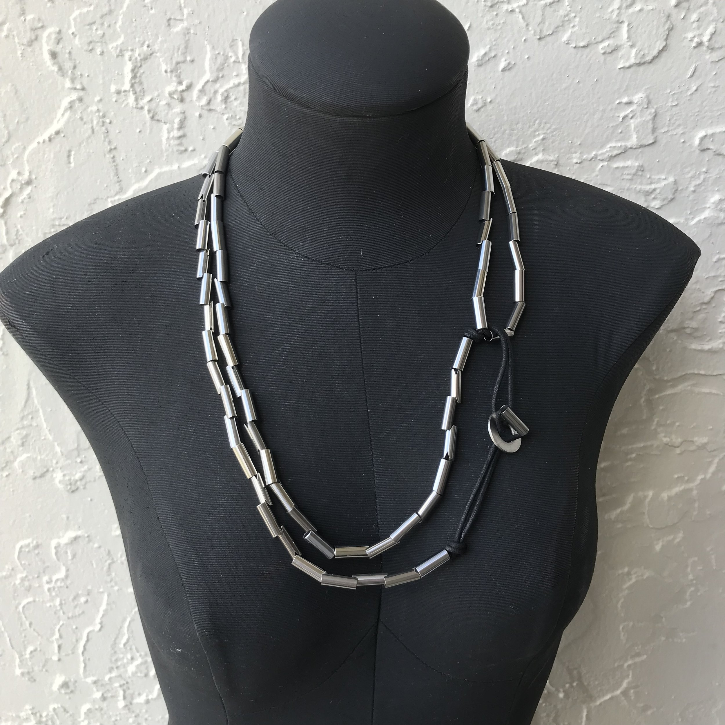 Snake Chain Necklace Doubled