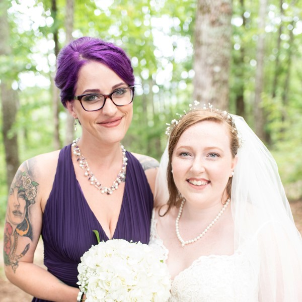 Amethyst and Pearl Bridesmaid Jewelry