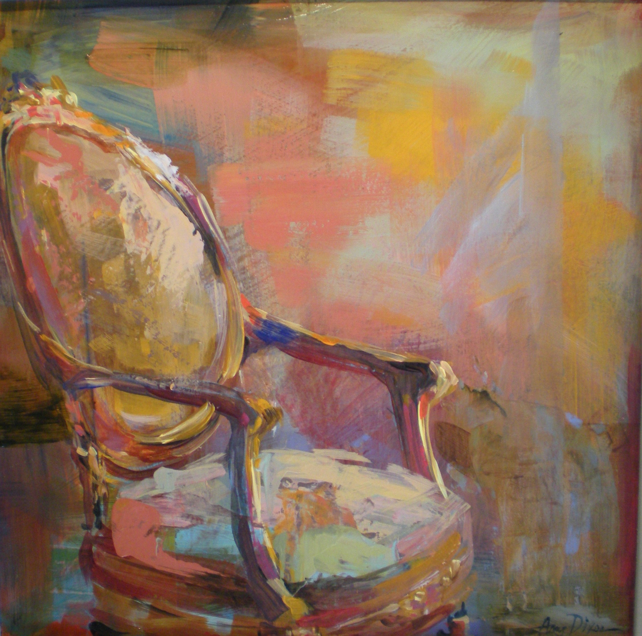 """Chair of Neutrality 12"""" X 12"""" SOLD"""