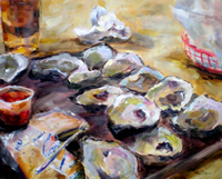 """Oysters 16"""" X 20"""" SOLD"""