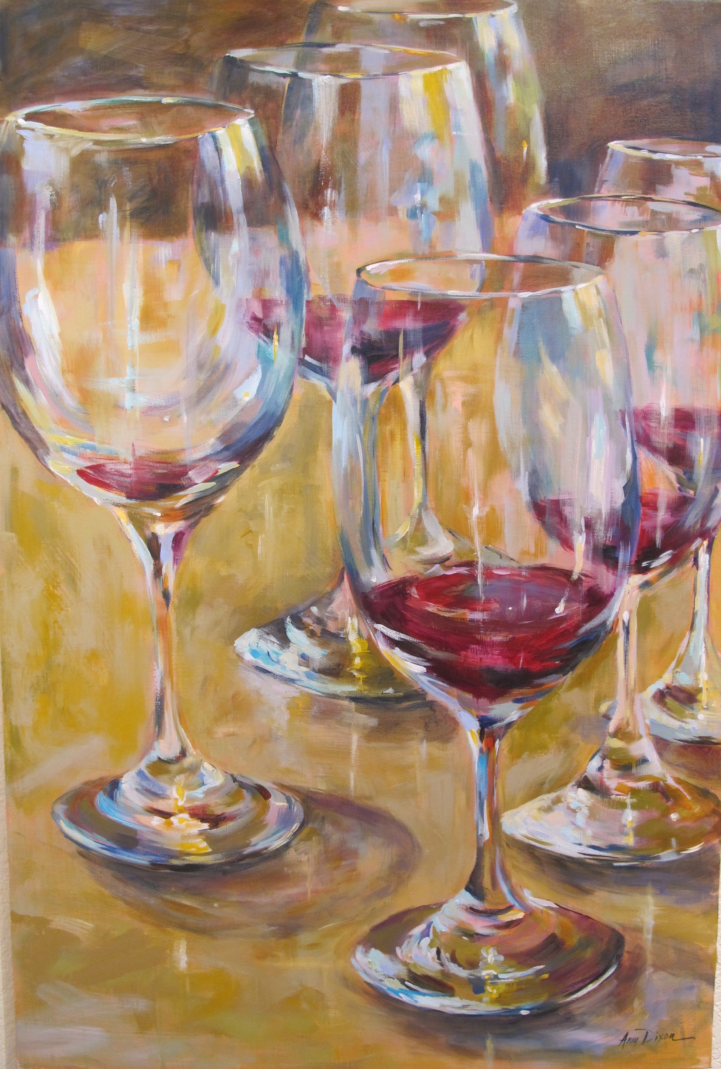 """Party of Six 40"""" X 30"""" SOLD"""