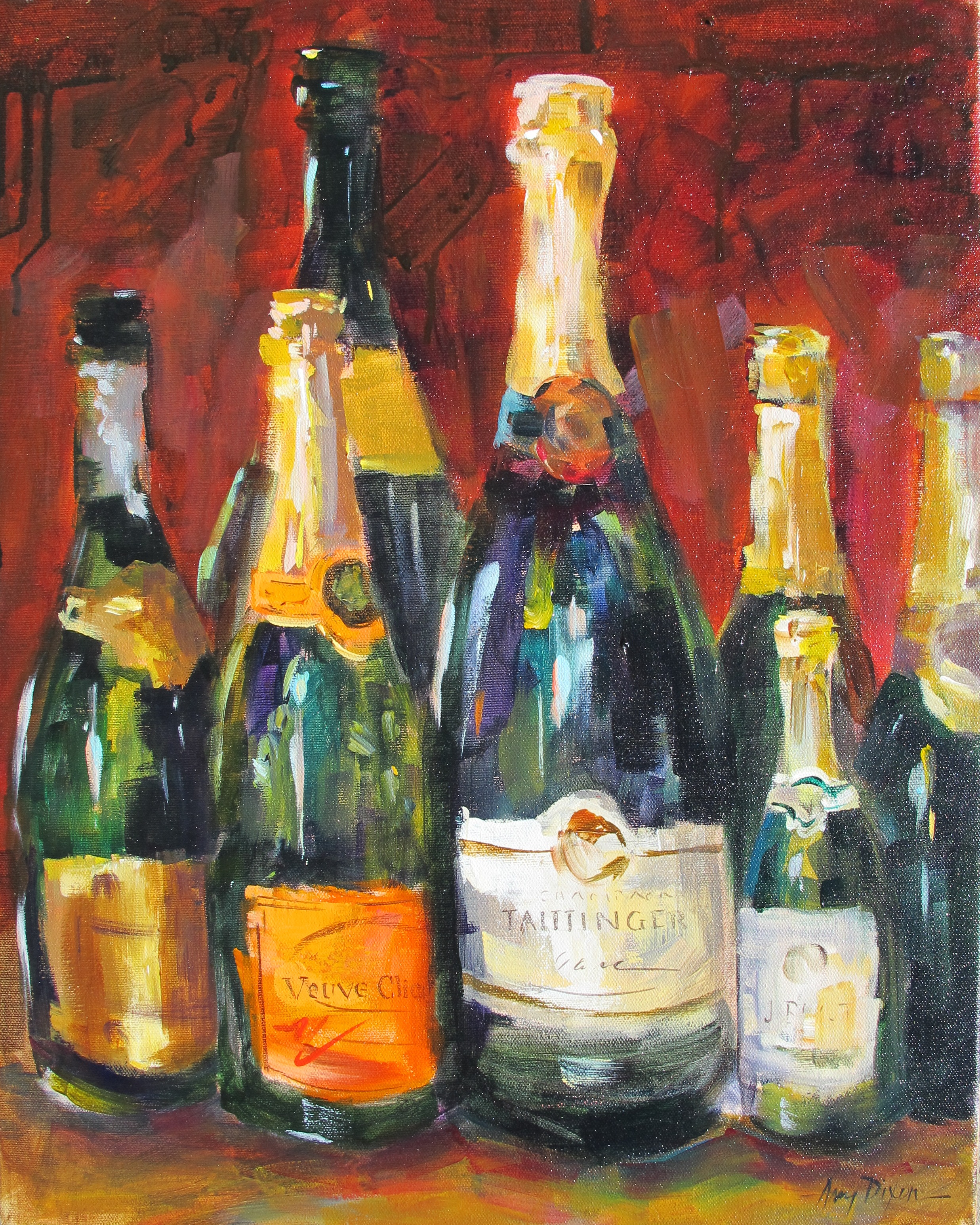 """Simply Champagne 16"""" X 20"""" SOLD"""