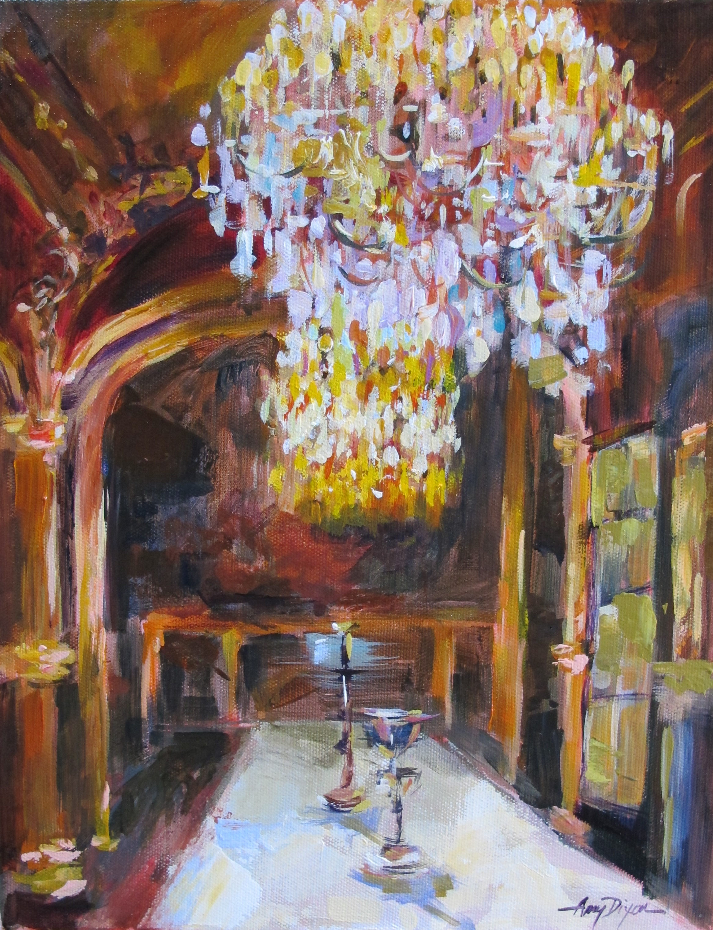 """The Dining Hall 14"""" x 11"""" SOLD"""