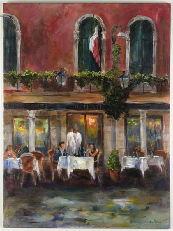 """Sidewalk Cafe 48"""" x 36"""" SOLD"""