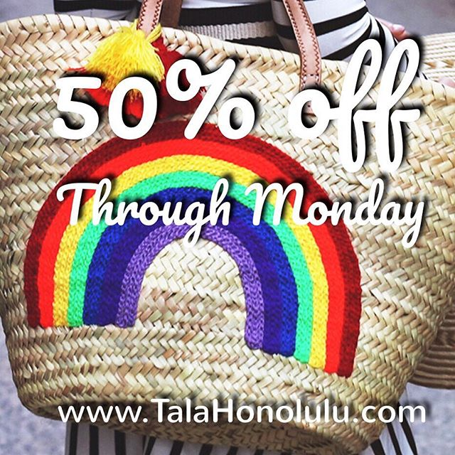 Happy Thanksgiving!!! 🍁🍂🌻 So many things to be grateful for this year, most importantly friends, family, good health and love ❤️ Please enjoy 50% off on our website @talahonolulu.com to celebrate through Monday. Use code HAPPY at checkout 😀 Have fun shopping!!! 😘 . . . #thanksgiving #giftideas #giftgiving #blackfriday #holidayseason #shopping #colorful #bags #fashionpost #fashionstyle #boho #bohemian #bohochic #instagood #instadaily #ootd #vacationstyle #waikiki #honolulu #hawaii #oahu #islandstyle #kawaii #fashion #talahonolulu #behappy