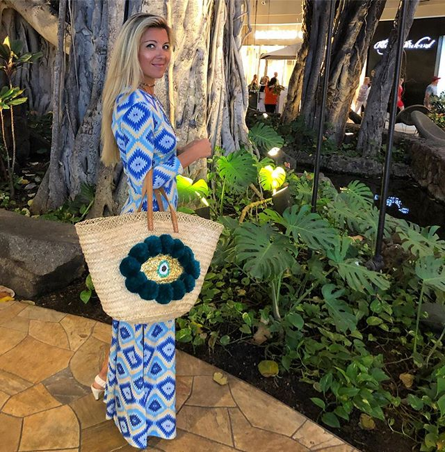 Sending everyone some Friday night ALOHA 💘. Tala Jamila bag available in link in bio 😘 . . . #aloha #friday #waikiki #honolulu #hawaii #fashion #style #bag #evileye #love #boho #bohostyle #bohemian #vibes #fashionstyist #fashionlover #weekend #islandgirl #fashionblogger #instagram #instagood #beachstyle #coastal #styleinspo #vintage #fridaynight #blues #talahonolulu