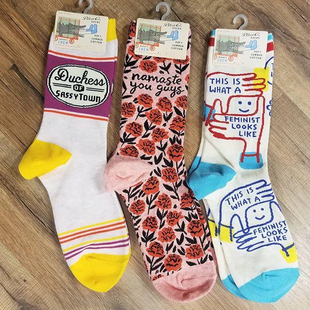 Some of our favorite @blue_q socks. #funnysocks #rethreadscville #greatgift #duchessofsassytown