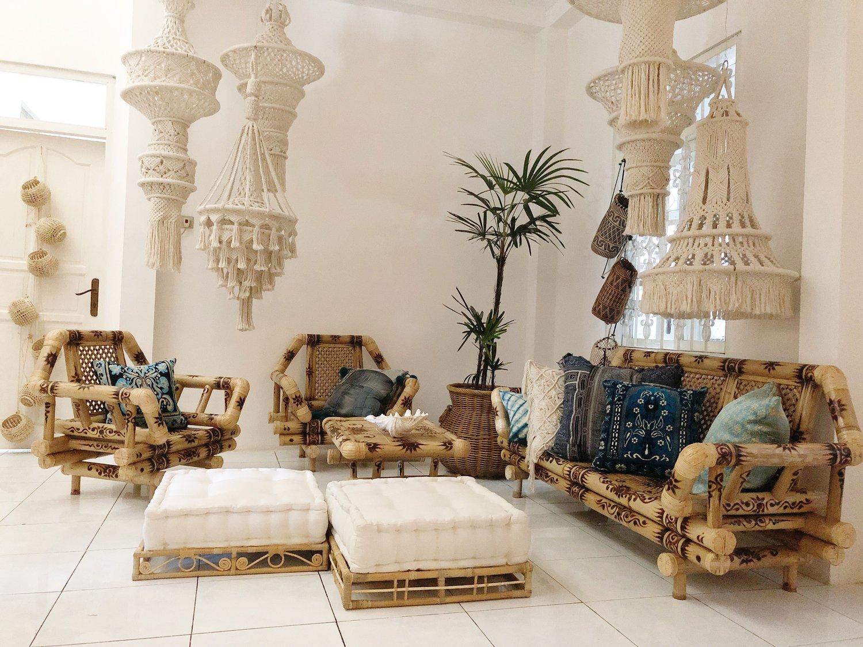 Mostafa Bamboo Living Room Set — Homevestures