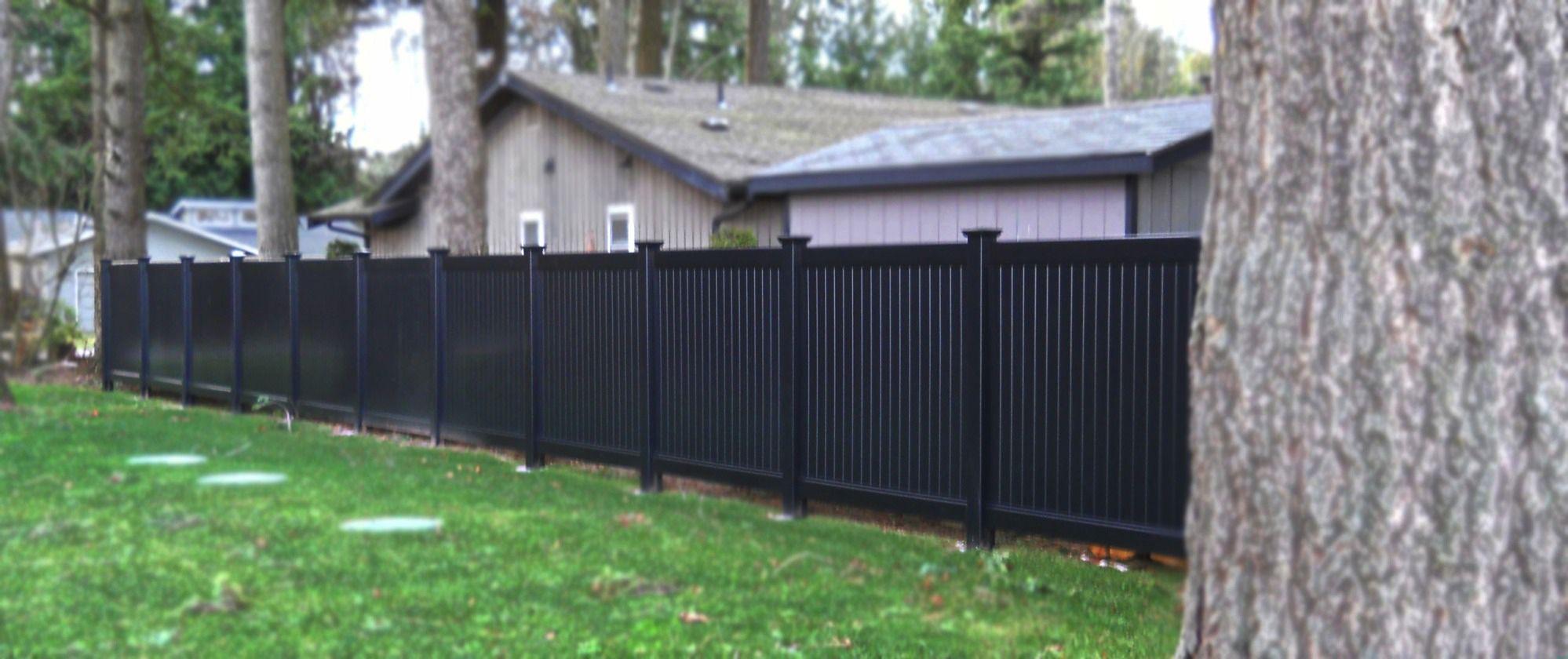 Black Privacy Fence