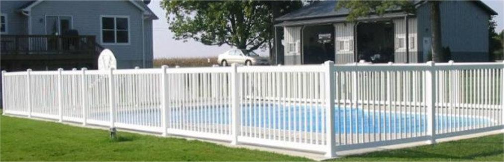 Vinyl Pool Safety Fence