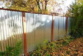 Polished Galvanized Corrugated Panels with Redwood Posts
