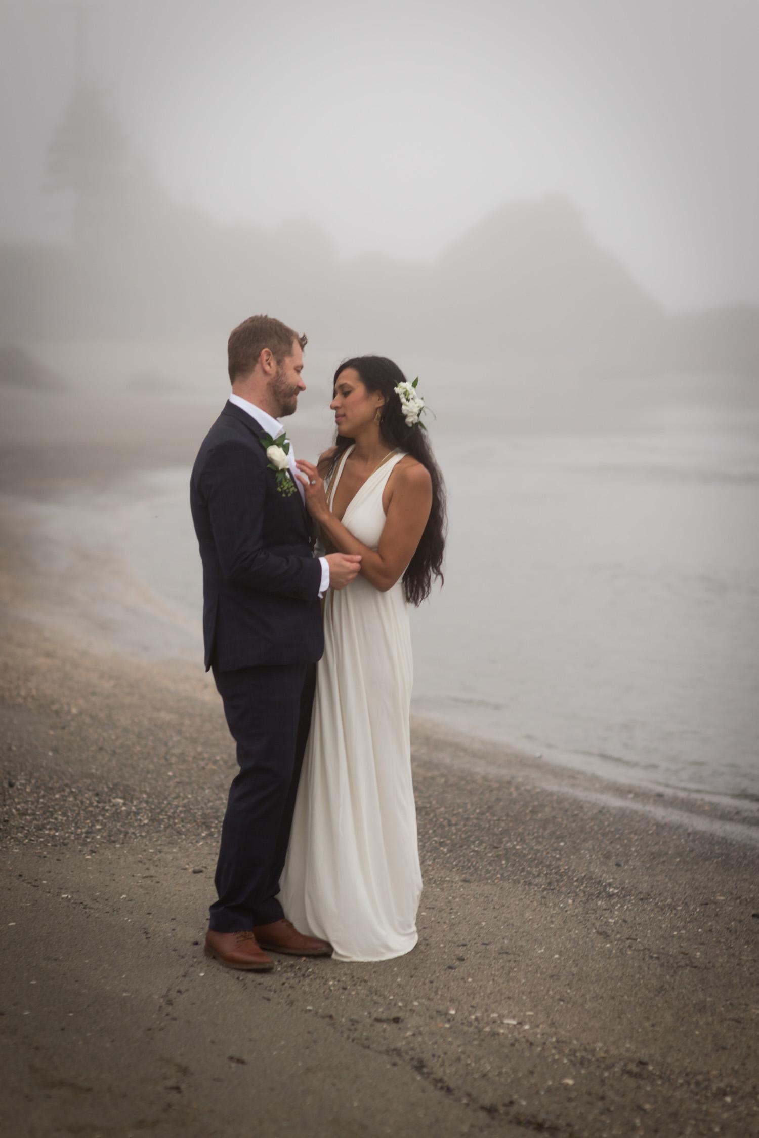 Mystical bohemian elopement in the PNW fog