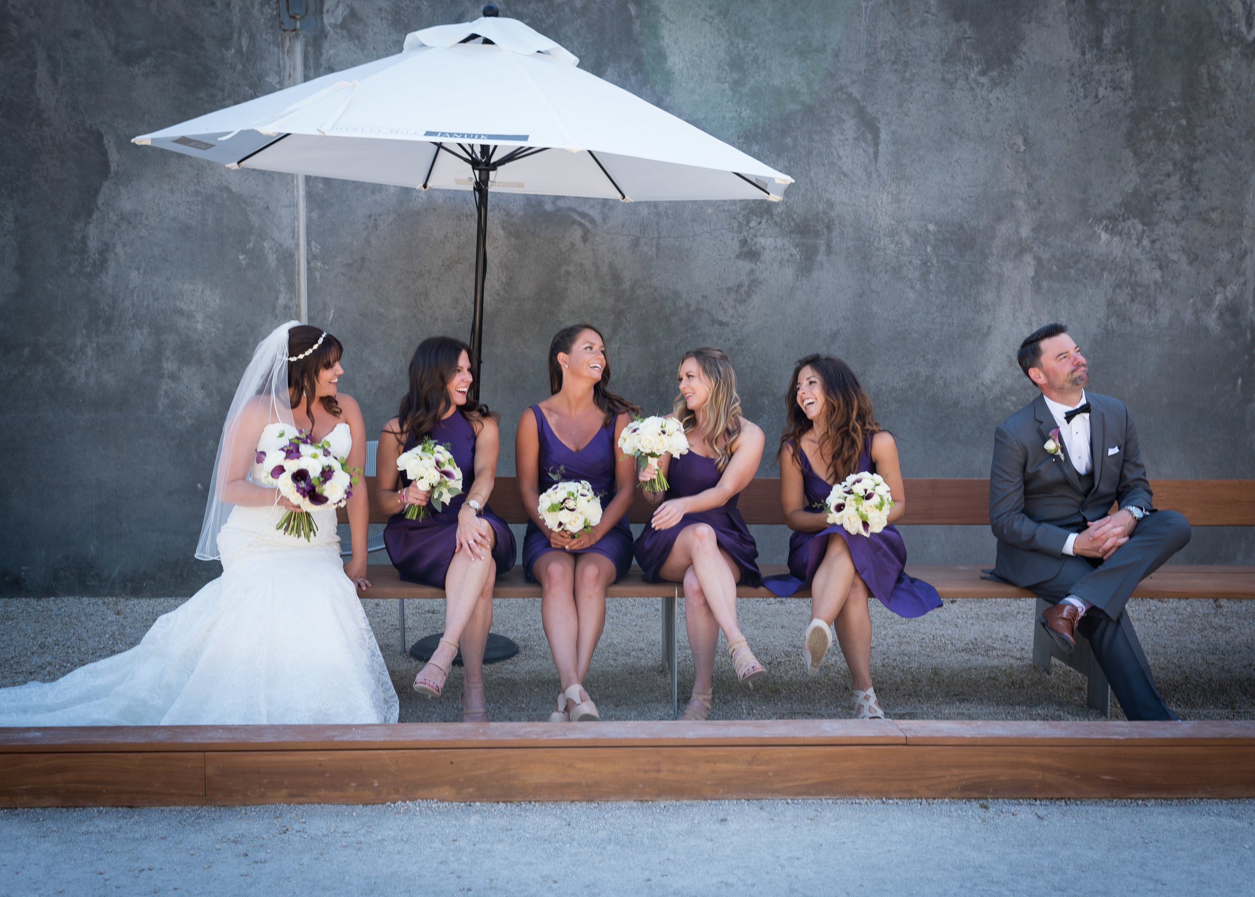 Candid Bridal Party in Woodinville