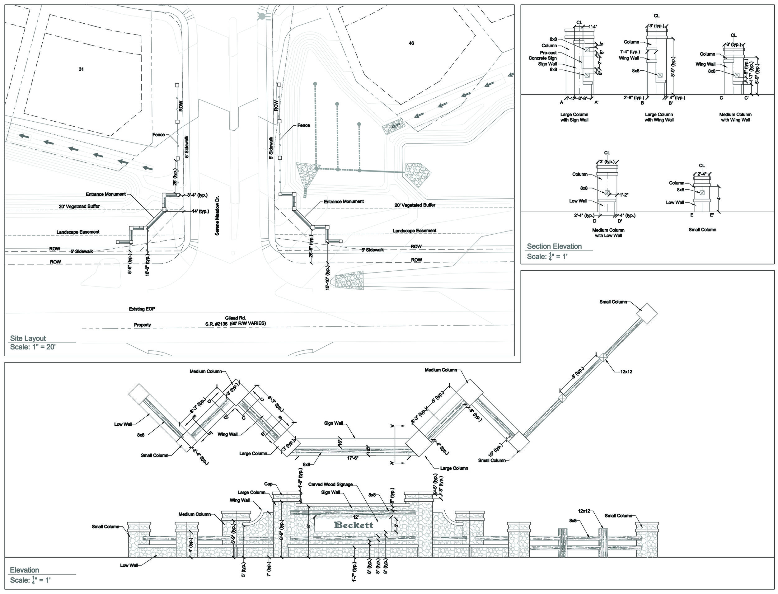 Monumentation, Logo, and Entrance Planting Design