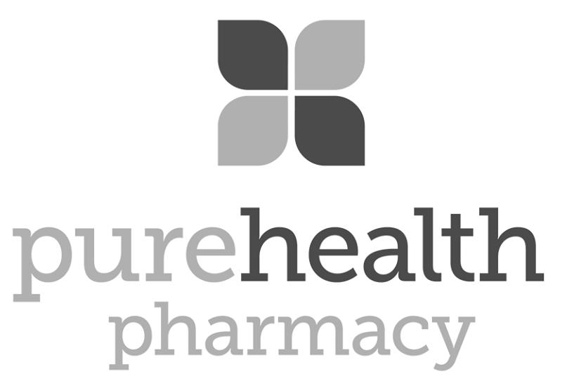 Pure health pharmacy toronto design logo bw.png