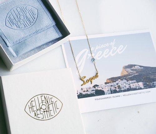 176f78257e310 Custom Nameplate Necklace - Greek — Hellenic Aesthetic