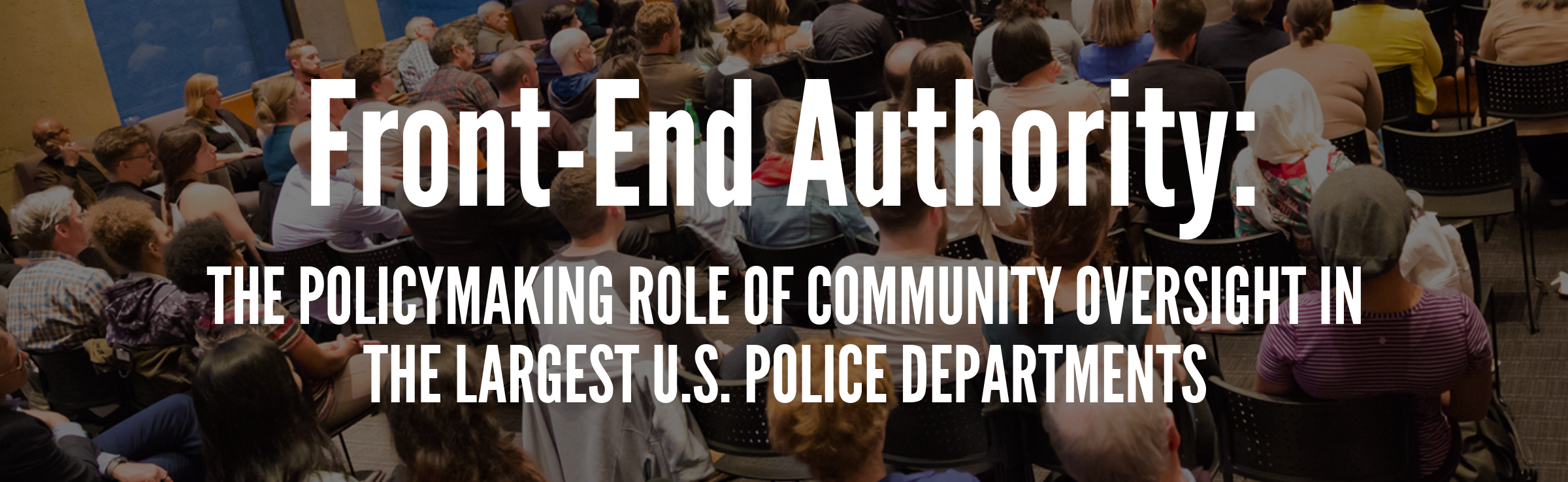 A civilian-led review group meets with police officers to discuss policy recommendations.
