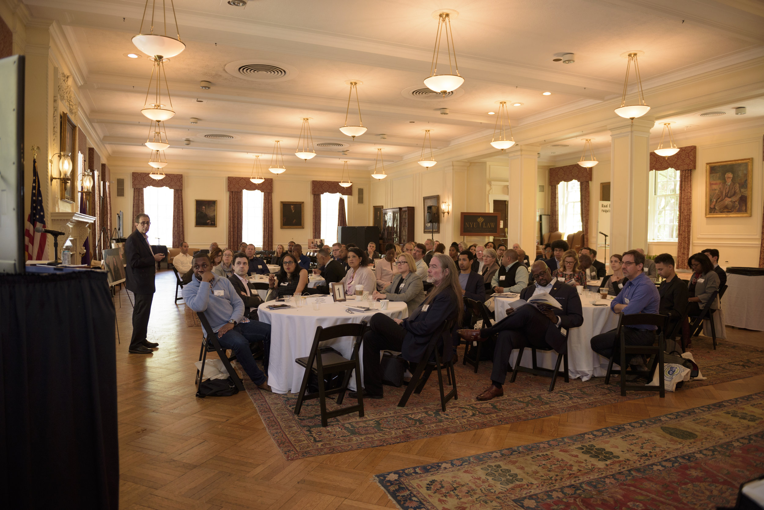 Participants in our workshop gathered at the NYU Law campus.