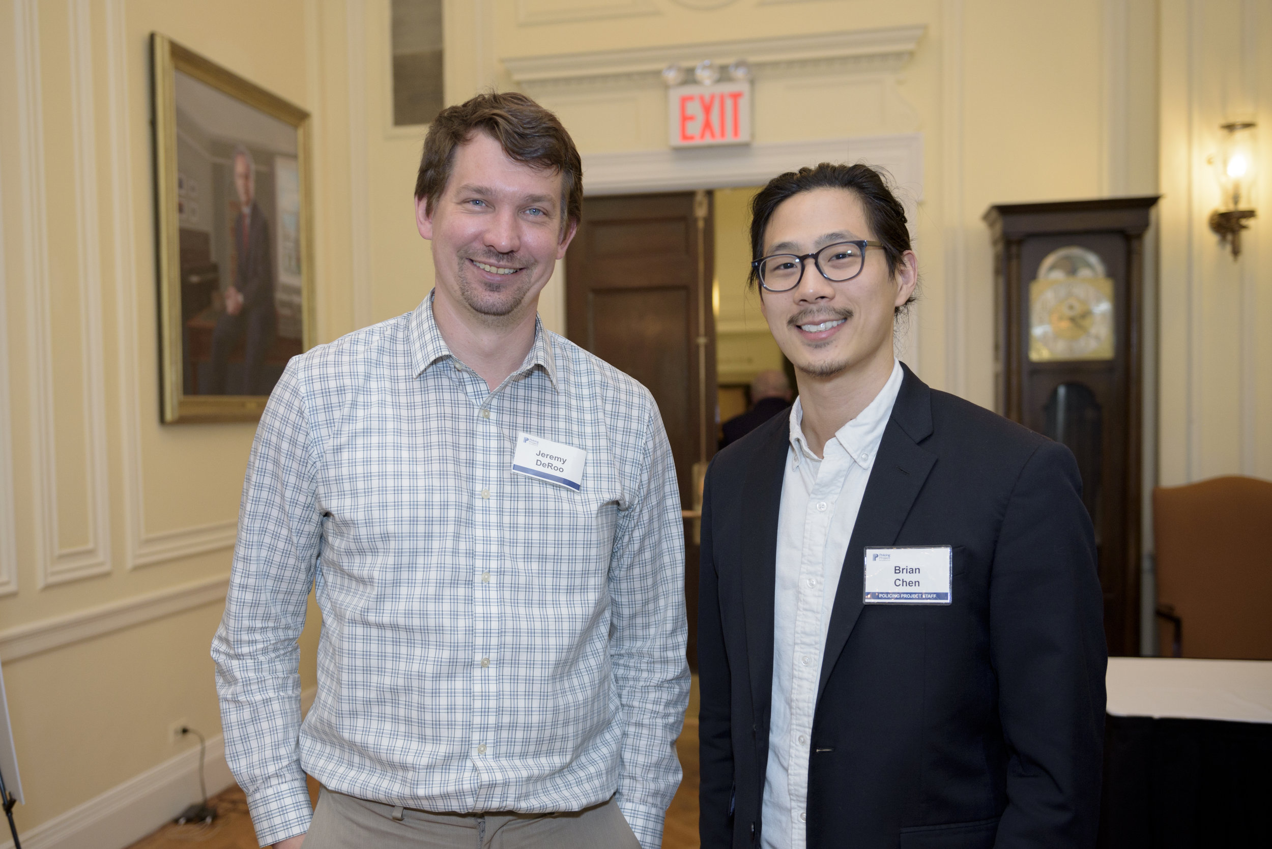 Jeremy DeRoo, executive director of LINC UP of Grand Rapids, Michigan, with Brian Chen.