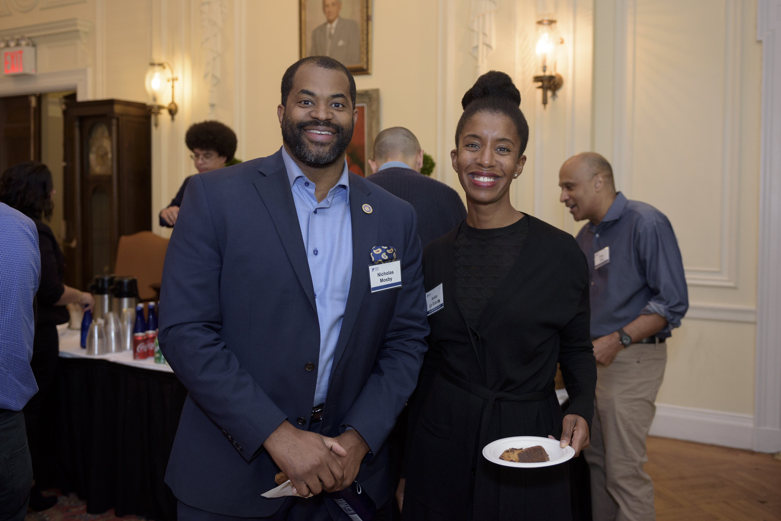 Nicholas Mosby, member of the Maryland House of Delegates, and Policing Project Senior Program Manager Ariele Le Grand