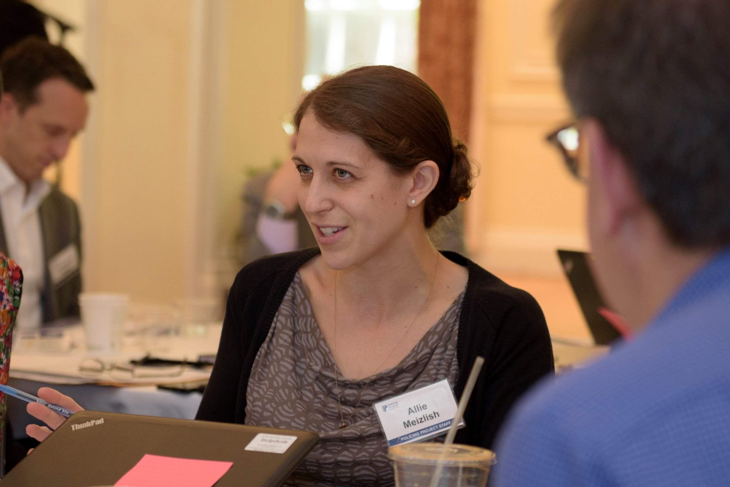Policing Project Deputy Director Allie Meizlish at our recent community engagement convening.
