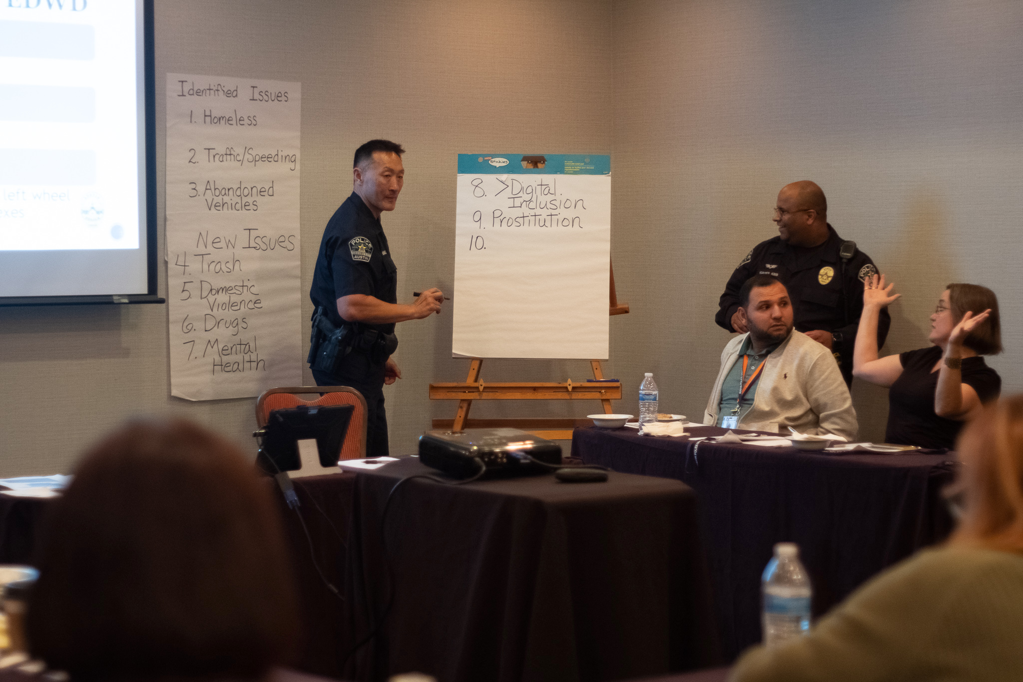Case Study: Austin - In 2017, the Austin Police Department changed their quarterly Commanders' Forums, in which District Commanders held meetings at the District substation, to Community Forums, which rotated locations in an effort to increase accessibility and turnout