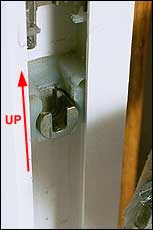 Use screwdriver to make sure shoe openings are pointed up.
