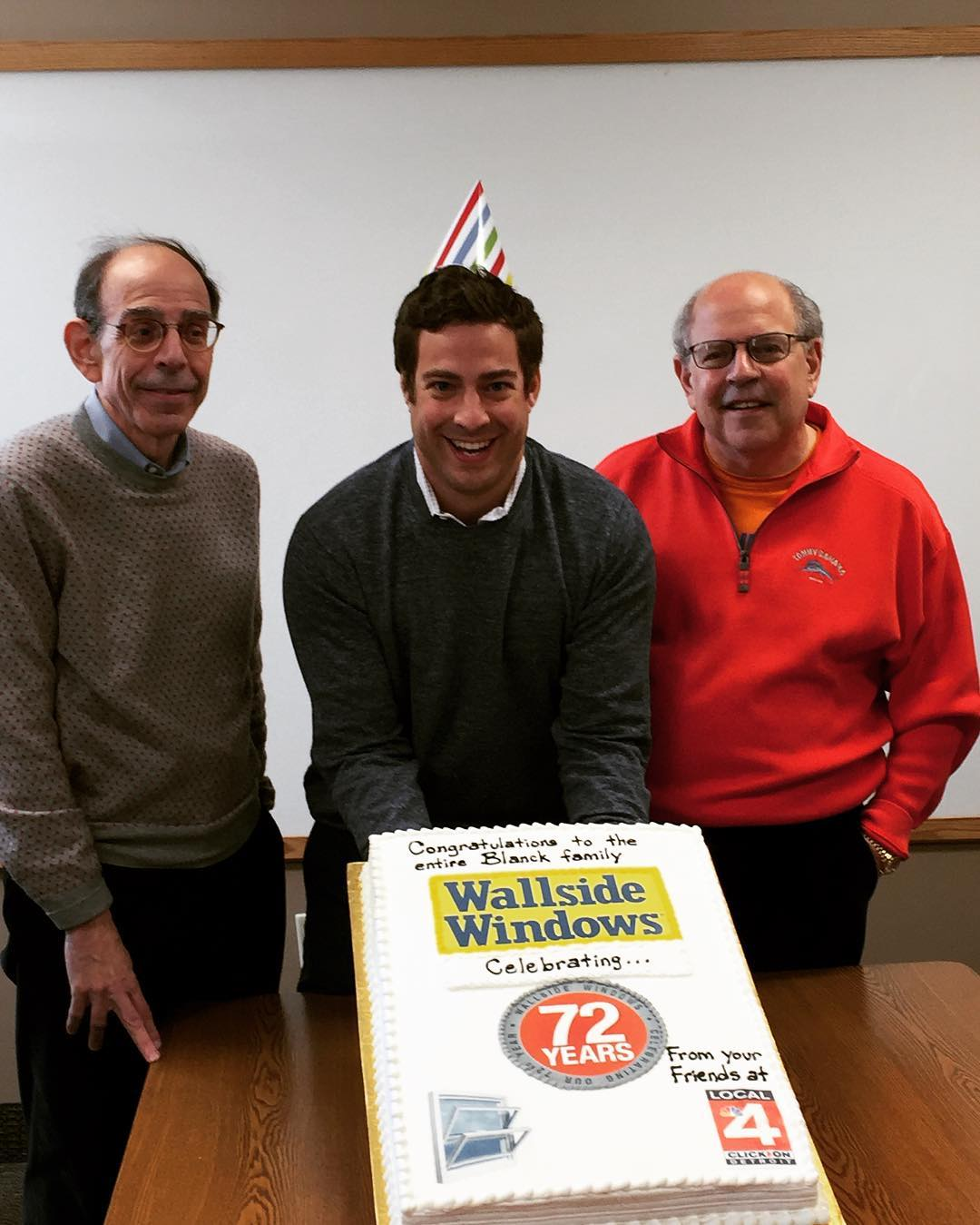 Blanck's sons and grandson celebrate Wallside's 72nd Anniversary.