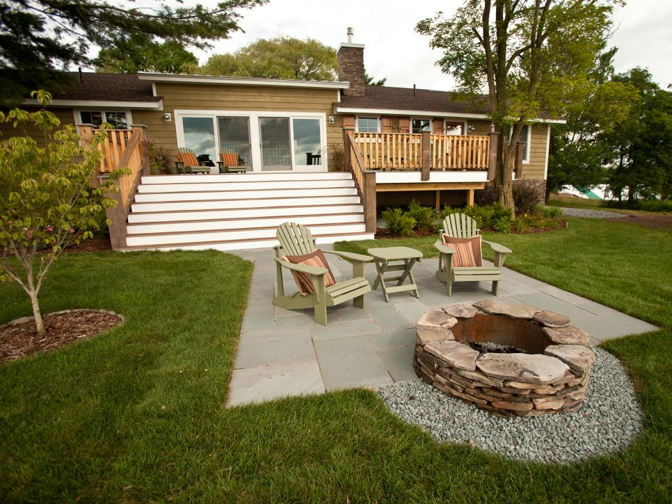 Deck to Firepit by Jackson Riley Parker DIY Network