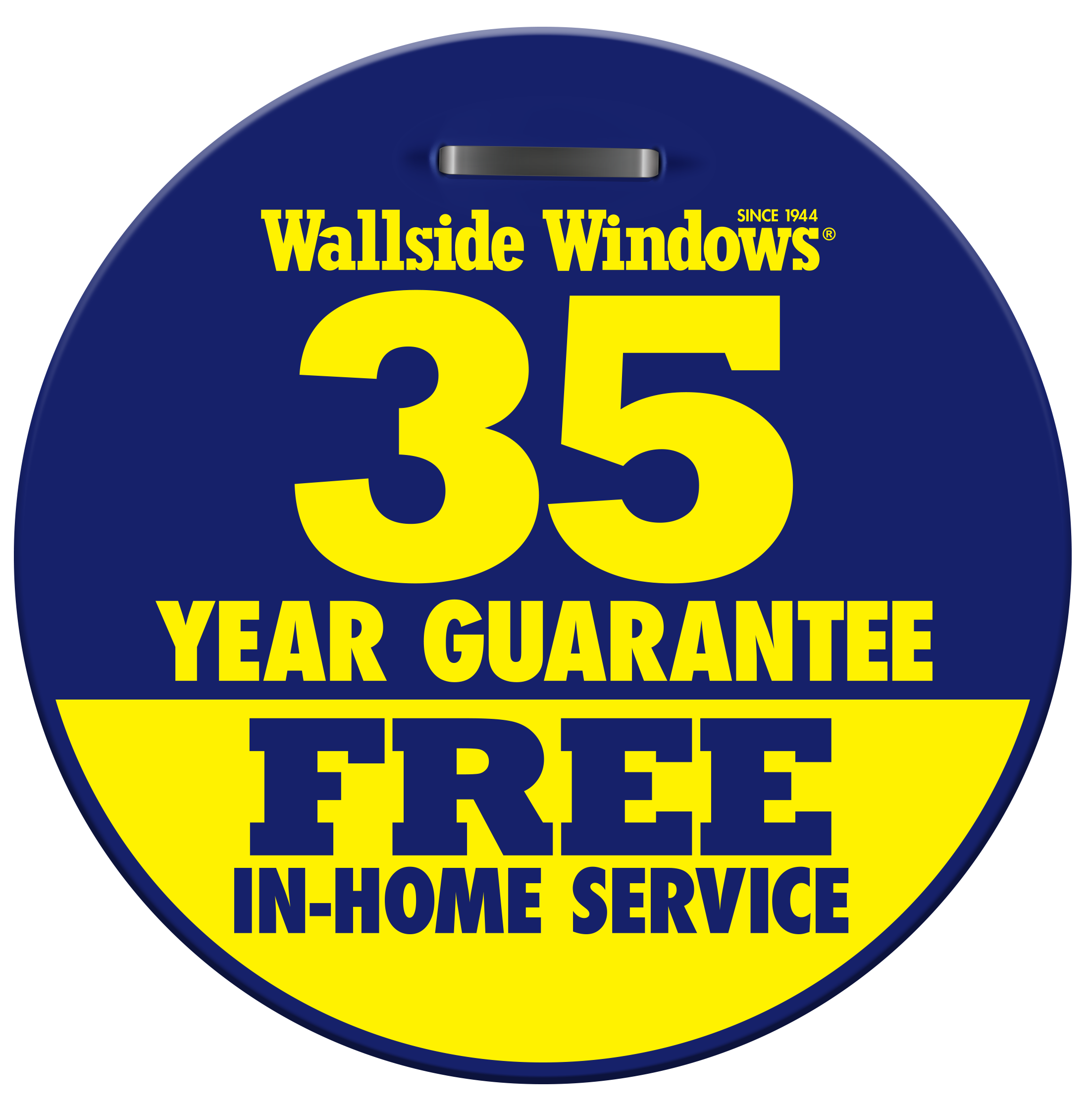 Wallside Windows 35 year guarantee