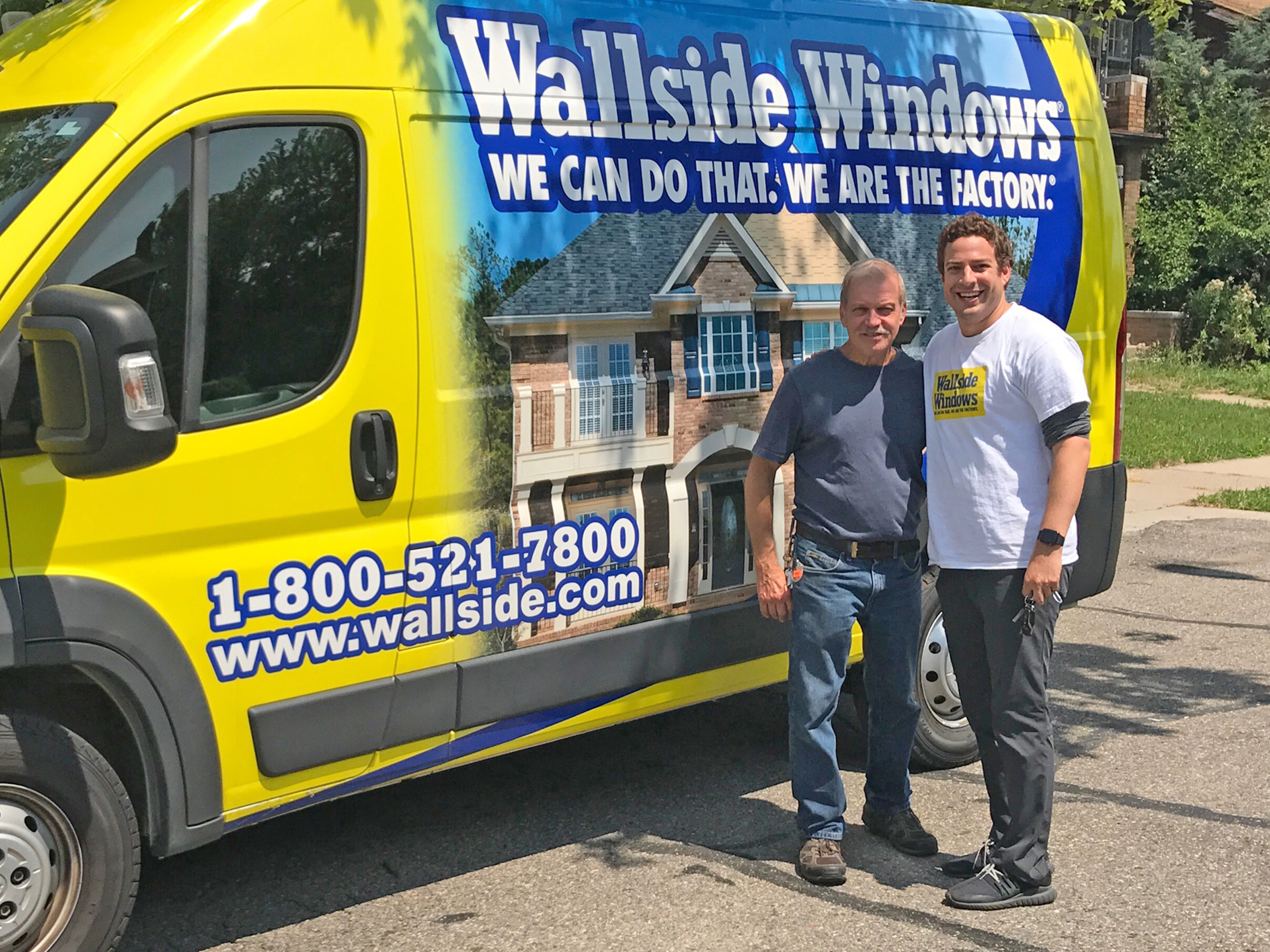 Wallside Windows employees consider Jim Rais (left) a go-to guy on the job. Even Adam Blanck (right), chief of staff at Wallside Windows, can vouch for his reliability.