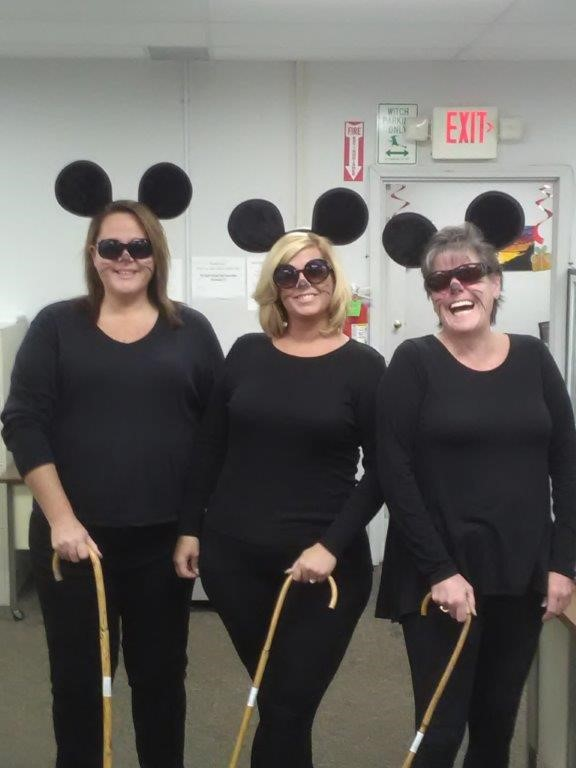 Another popular costume was this group effort - Three Blind Mice - featuring from left to right: Correen Eldred, Nicole Murphy and Carrie McClung.