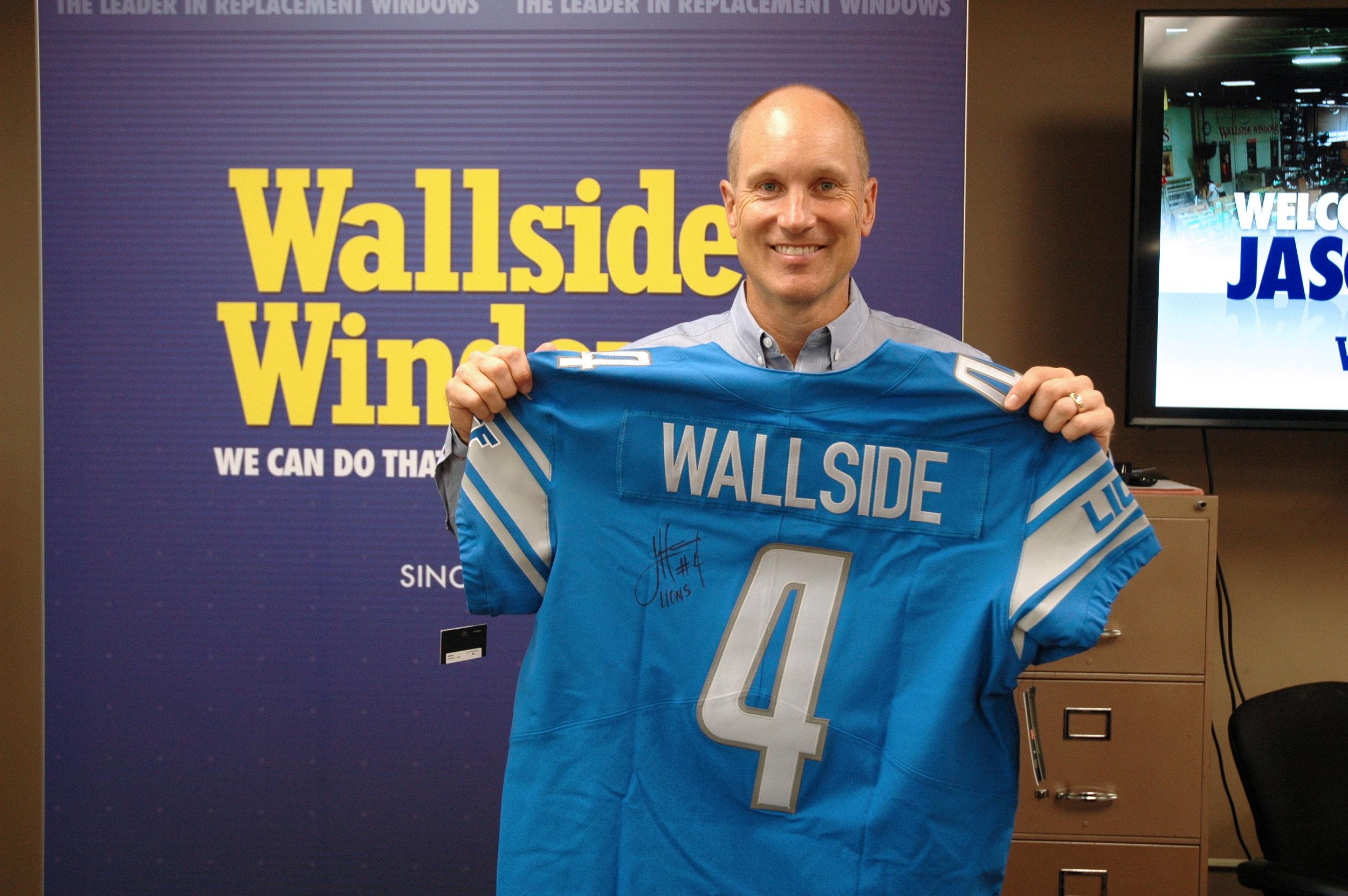 Wallside Windows staff welcomes former Detroit Lion Jason Hanson ...