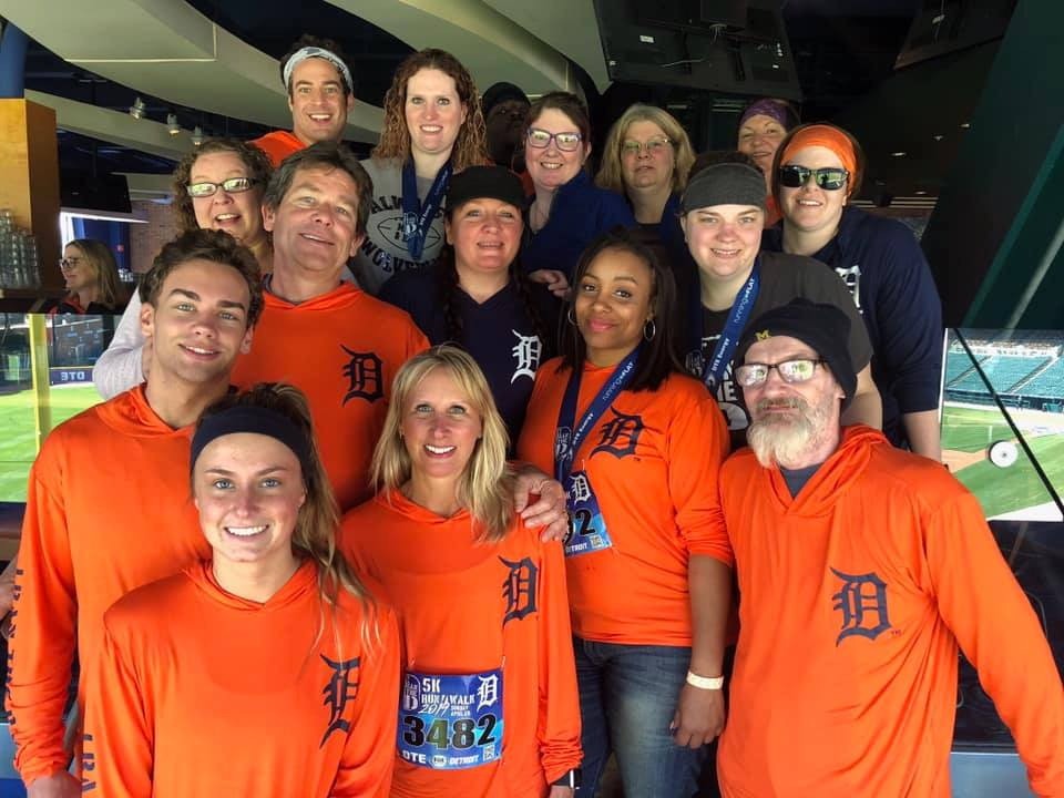 A team from Wallside Windows were ready to run at the recent I Ran the D event in Detroit.