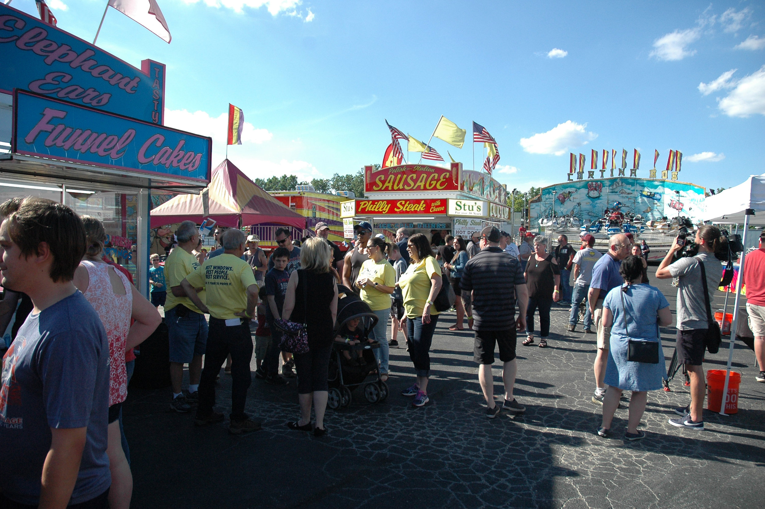Wallside friends and families enjoyed games, rides and food at the Taylor Summer Festival this week – before it opened to the public.