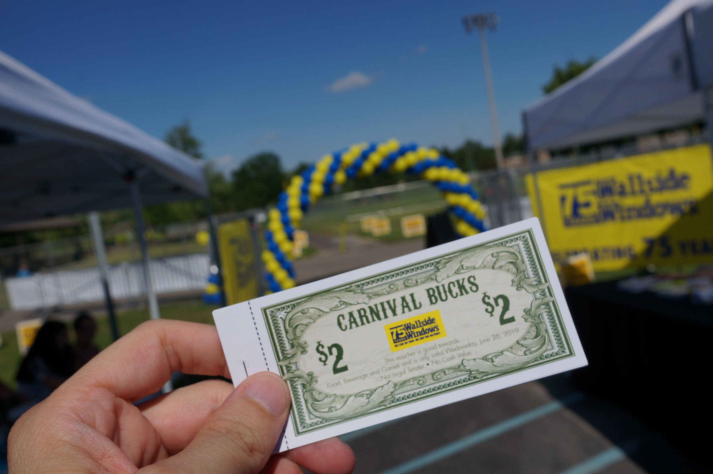 Wallside Windows attendees snacked using Carnival Bucks at Wednesday's event.