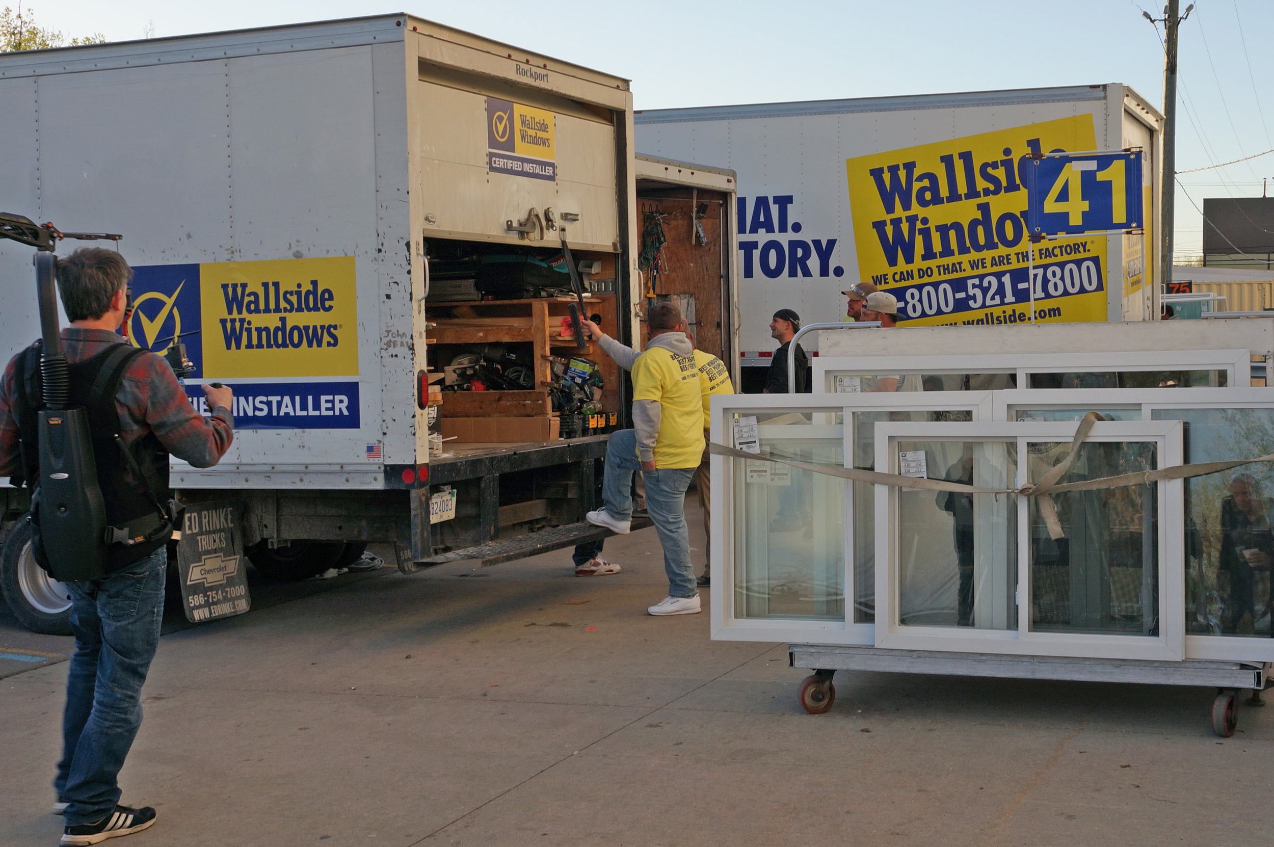 Lerner Advertising produced the most recent TV commercial for Wallside Windows at Wallside's Taylor factory.